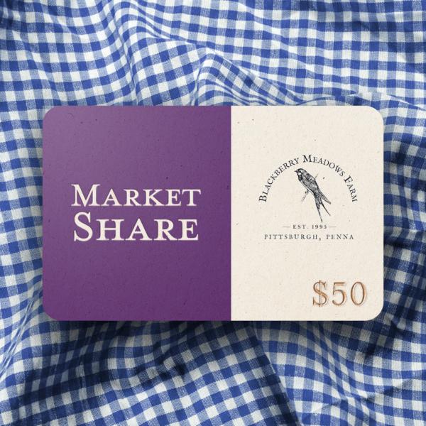 Market Share Card (Single card, $50)